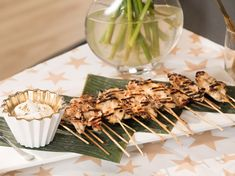 Grilled Chicken Skewers with Lemon and Honey