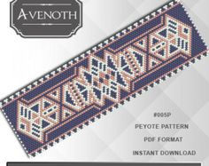 Peyote bracelet pattern peyote pattern by AvenothBeadPatterns