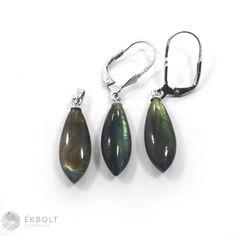 Ezüst medál és fülbevaló szett labradorit kővel Drop Earrings, Jewelry, Jewlery, Jewerly, Schmuck, Drop Earring, Jewels, Jewelery, Fine Jewelry