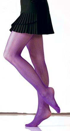 Purple Fishnet Tights