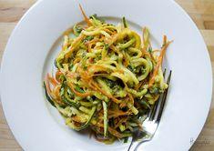 asian raw zucchini noodles Ravenous Couple, via Flickr