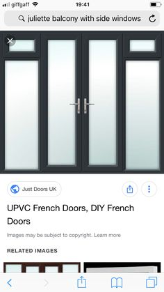 Upvc French Doors, Juliette Balcony, Door Images, Lockers, Locker Storage, Loft, Windows, Learning, Diy