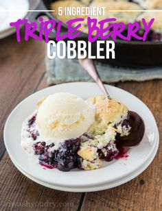 I'm super excited to be sharing this Triple Berry Cobbler recipe with you guys! But I am over the moon excited about the fact that I get to tell you all about how you can WIN a trip for two to the CMA Music Festival thanks to Martha White!! Where are all my Country Music Fans?!?!I know you're dying to find out how you can win. I've teamed up with Martha White as a blogger ambassador this year, which means I get to share loads of delicious recipes like this Triple Berry Cobbler, ...
