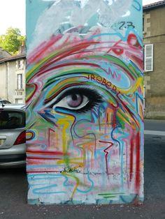 Street Art-Artist :Rebeb...Poitiers 2014
