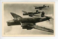 Original WWII German Military Themed Postcard, Junkers Ju 86
