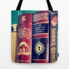 Sherlock Library Tote Bag: Books mystery by ApplesandSpindles