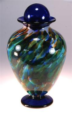 Custom Hand Blown Glass Urns By Artist Rick Strini Hand Blown Glass Pinterest Cremation