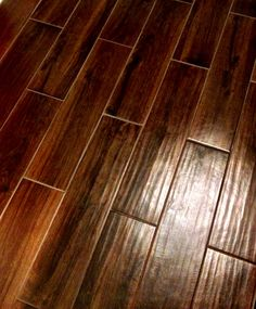 a tile that looks like wood  each one is a single tile... Love this, in my kitchen and or the bathroom.. YES