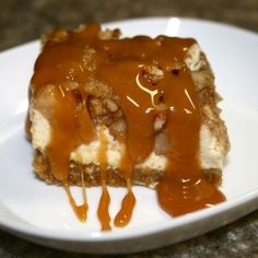 Caramel Apple Cheesecake Bars. Come Share your food blogs or recipes with us on Facebook #TheTexasFoodNetwork All Foodies are welcome!