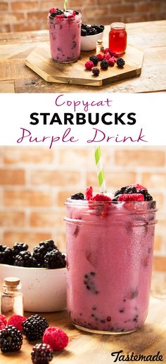 Why wait in line when you can make the Purple Drink at home?