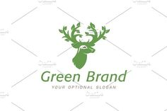 For sale. Only $29 - foliage, animal, deer, tree, leaf, growing, forest, wood, plant, antlers, elk, hunt, green, memorable, simple, natural, rustic, stag, buck, branch, humility, peace, grace, creativity, vigilance, beauty, fertility, regrowth, forestry, garden, hunting, logo, design, template,