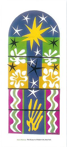 Matisse. Love the paper cutouts series. Matisse began working with paper cutouts due to severe arthritis.