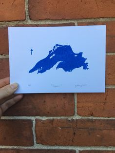 A personal favorite from my Etsy shop https://www.etsy.com/ca/listing/551886942/lake-superior-block-print