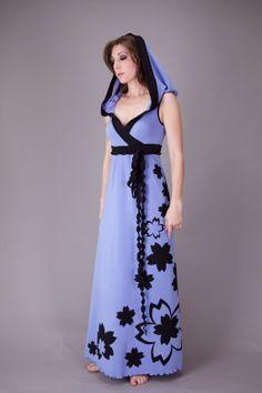 A-line Sakura Hoodie Gown.