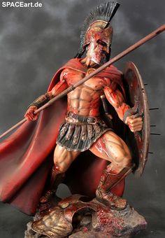 300: Leonidas Battle Rage - Deluxe Statue ... http://spaceart.de/produkte/300001.php