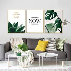 Oubei Art Modern Home Decor Green Plant Canvas Painting Succulent Plant Nordic Posters and Prints For Living Room Free S Living Room Green, Living Room Paint, New Living Room, Living Room Modern, Living Room Interior, Home Decor Bedroom, Living Room Designs, Bedroom Rugs, Living Area
