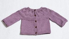 Ravelry: Provence Leafy Cardigan pattern by Susan Mills Knits Baby Cardigan Knitting Pattern Free, Kids Knitting Patterns, Knitted Baby Cardigan, Cardigan Pattern, Knitting For Kids, Free Knitting, Baby Sweaters, Girls Sweaters, Cardigans