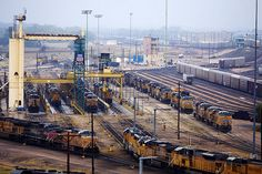 Union Pacific's Bailey Yard in North Platte, Neb., is the largest railroad classification yard in the world. Named in honor of former Union Pacific President Edd H. Bailey, the massive yard covers 2,850 acres, reaching a total length of eight miles. The yard is located in the midst of key east-west and north-south corridors, making it a critical component of Union Pacific's rail network.