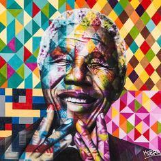 instagram.com/kobrastreetart: 18 Julho , Dia Internacional Nelson Mandela - Pela liberdade, justiça e democracia / Nelson Mandela International Day, July 18 For freedom, justice and democracy #nelsonmandela #mandeladay