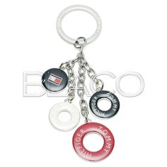 Tommy Hilfiger TH Multi Rings Keyfob Tango Red