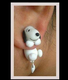 boucles d'oreilles snoopy