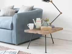 Gimme low solid wood side table