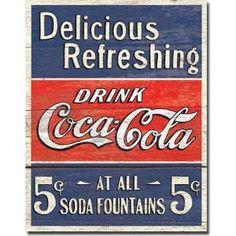 Coco-Cola Tin Sign.