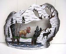 moose statues or figurines   WC4025 MOOSE LODGE BIRCH STATUE DECORATION FIGURINE WOODLAND CREATIONS ...