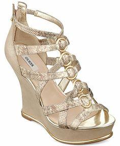 036959008127 GUESS Women s Barran Platform Wedge Sandals Shoes - Macy s