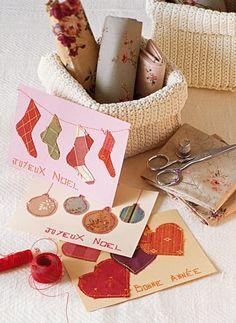 Des cartes de vœux aux motifs de tissu / Greeting cards in the cloth motives