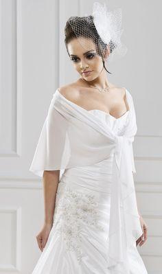 chle mariage astrid blanc - Bolero Mariage Blanc