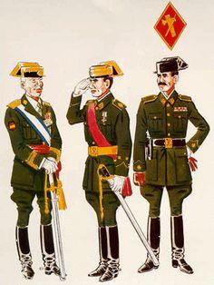 General de Brigada con Uniforme de Gala ( 1943 – 58 ) Teniente con Uniforme de Gala fuera de formación ( 1943 – 52 ) Comandante con Uniforme de diario ( 1943 – 52 )