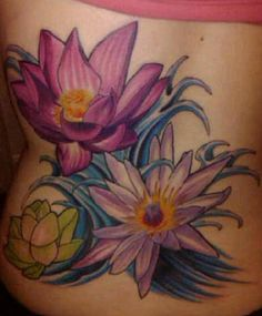 pink and blue lotus tattoos...design courtesy of google images but still pretty