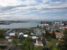 West view over Hafnarfjörður Harbor, Iceland.