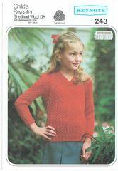 990af121eb5873 Keynote 243 girls jumper vintage knitting pattern ...