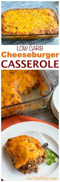 Need a simple ground beef casserole to feed your family or friends? They will love this easy low carb bacon cheeseburger casserole. LCHF Keto