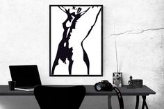 Printable wall art -- Naked woman digital print -- Poster size print -- Modern art posters -- Free Commercial Use