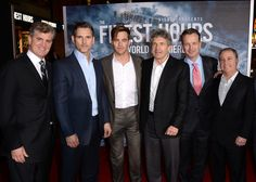 """Chris Pine Photos Photos - (L-R) Producer Jim Whitaker, actors Eric Bana, Chris Pine, Alan Horn, Chairman, Walt Disney Studios, Sean Bailey, President, Walt Disney Motion Picture Productions and Alan Bergman, President, Walt Disney Studios pose at the premiere of Disney's """"The Finest Hours"""" at the TCL Chinese Theatre on January 25, 2016 in Los Angeles, California. - Premiere of Disney's 'The Finest Hours' - Red Carpet"""