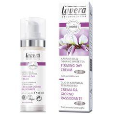Lavera Firming Day Creme 50 ML natuurlijke gezichtsverzorging zonder chemische ingrediënten, zonder gif. https://vitavitalis.com/LAVERA-FIRMING-DAY-CREAM-Karanja-Oil-Organic-White-Tea-50ML