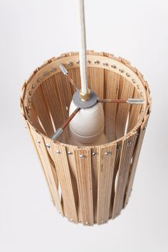 Lamps Made from Leftover Birch Plywood - Design Milk Plywood Design, Diy Storage Boxes, Storage Sheds, Wood Pendant Light, Bamboo Crafts, Rope Crafts, Small Wood Projects, Handmade Lamps, Wooden Lamp