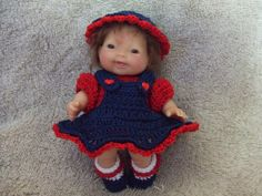 Crochet Pattern for 5 Inch Berenguer Baby A Jumper by alcarrico32, $3.99