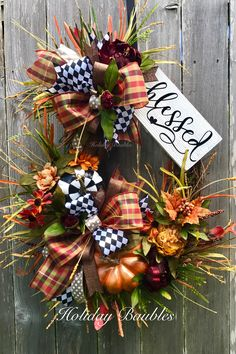 Fall Blessed Wreath By Holiday Baubles