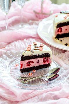 Tort cu zmeură și ciocolată-Tort cu flori sakura | Din secretele bucătăriei chinezești