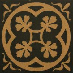 Black & Cognac Tiles  for hallway