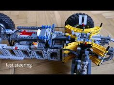 Lego Technic Virtual pivot steering system V2 - YouTube Cool Lego, Awesome Lego, Gifts For Boys, Gifts For Her, Lego Nxt, Lego Trains, Lego Projects, Lego Instructions, Craft Gifts