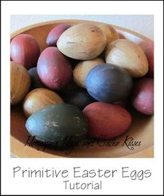Homespun Hugs and Calico Kisses: Primitive Easter Egg Tutorial I might even color eggs this year!