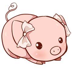 Resultado de imagem para porquinho kawaii