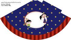 Chapeuzinho de festa Show da Luna Azul e Vermelho