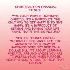 Chris Brady financial fitness