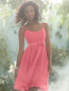 coral bridesmaid dress - I like the simplicity of it.. perfect for a beach wedding